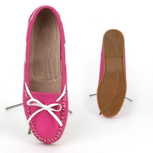 Damen Slippers Mokassins - Fuchsia