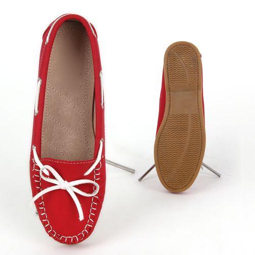 Damen Slippers Mokassins - Rot