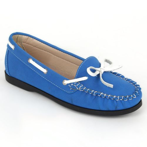 Damen Slippers Mokassins - Blau