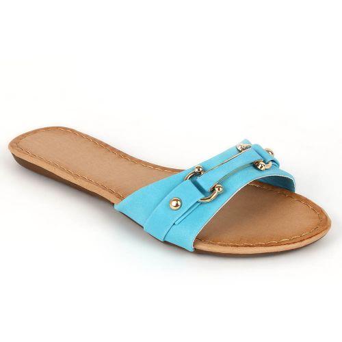 Damen Komfort Sandalen - Türkis