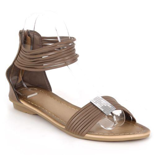 Damen Komfort Sandalen - Taupe