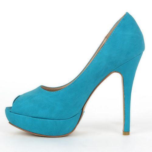 Damen Pumps High Heels - Türkis