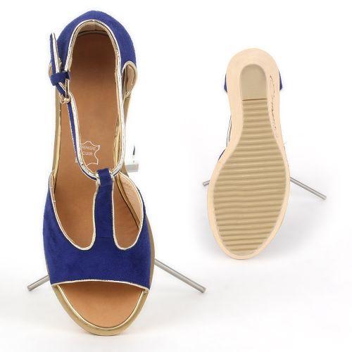 Damen Sandaletten High Heels - Blau