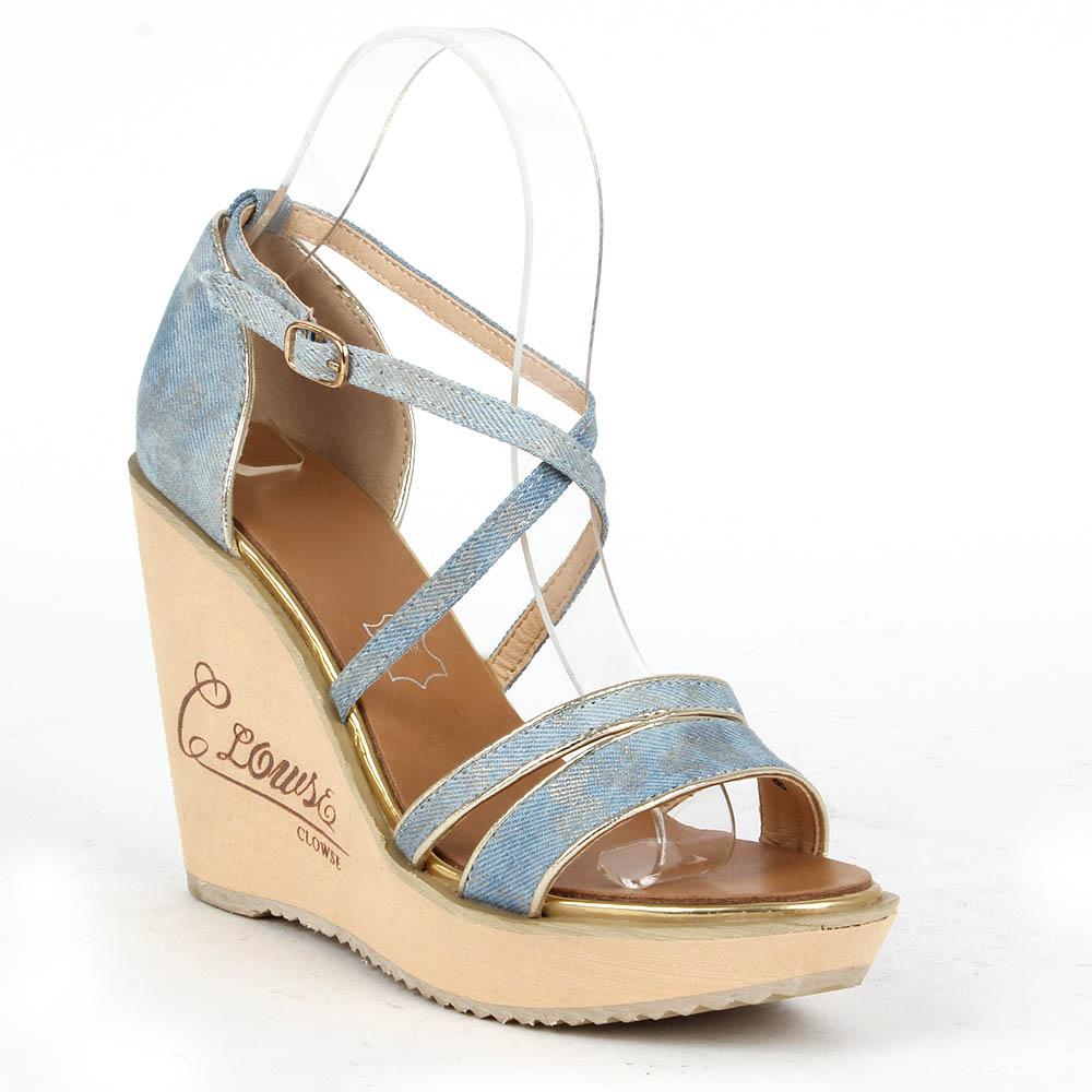 Damen Sandaletten High Heels - Hellblau