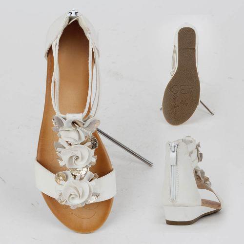 Damen Komfort Sandalen - Weiß