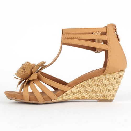 Damen Klassische Sandaletten - Hellbraun