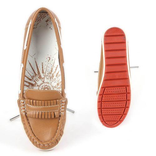 Damen Slippers Mokassins - Hellbraun