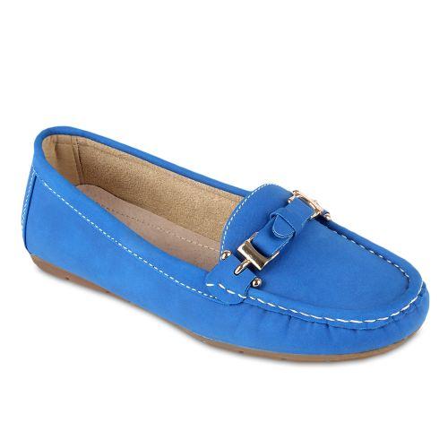 Damen Slippers Mokassins - Blau