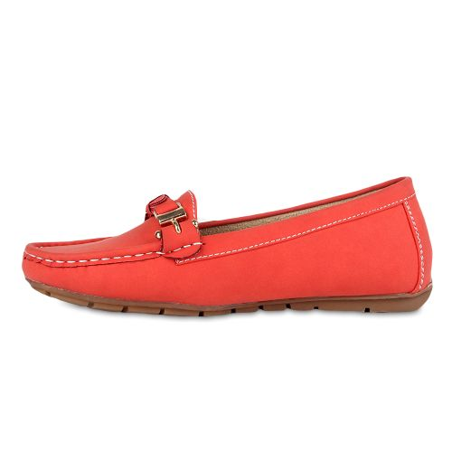 Damen Slippers Mokassins - Coral