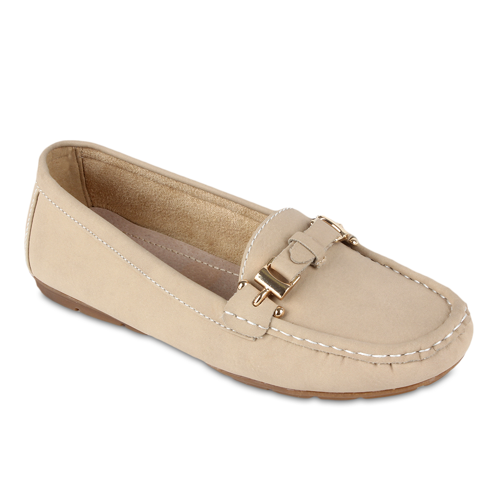 Damen Slippers Mokassins - Beige