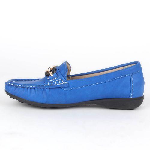 Damen Halbschuhe Mokassins - Blau