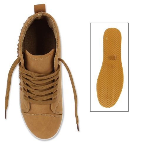 Damen Sneaker high - Hellbraun