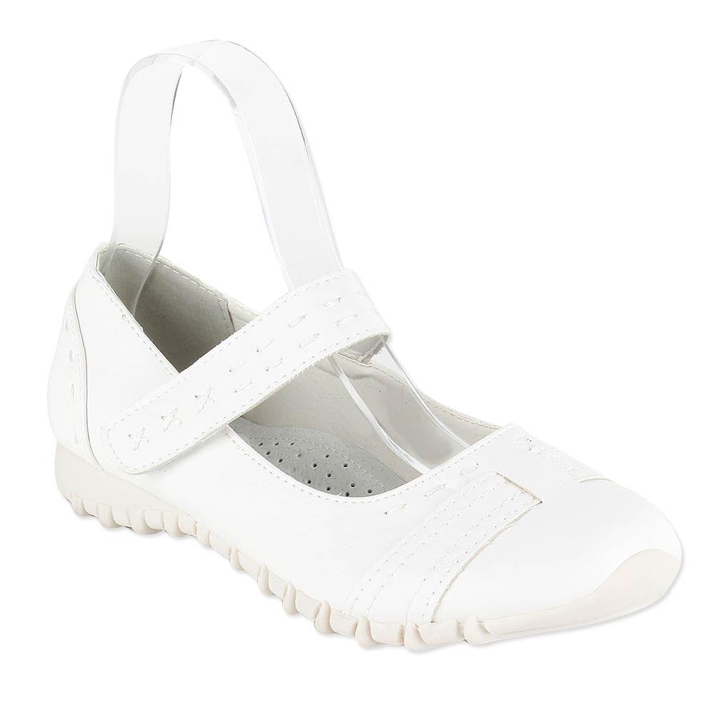 Damen Ballerinas Riemchenballerinas - Weiß