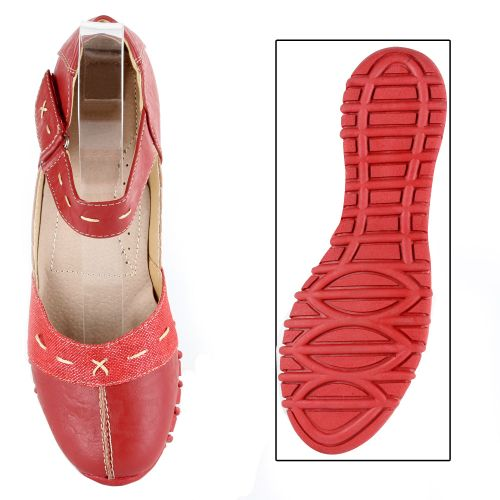 Damen Halbschuhe Outdoor Schuhe - Rot