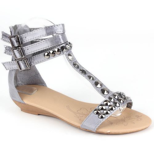 Damen Komfort Sandalen - Grau