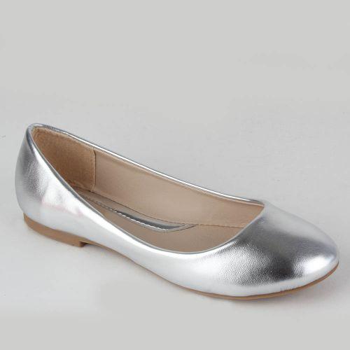 Damen Ballerinas Klassische Ballerinas - Silber
