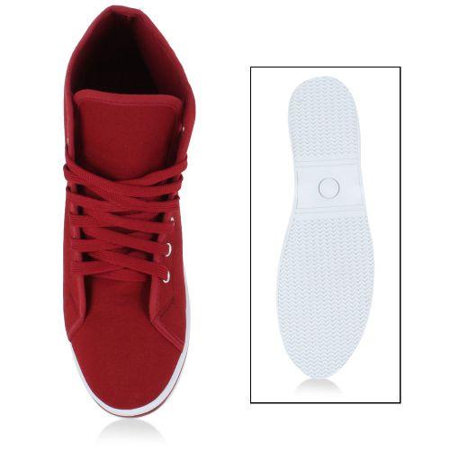 Herren Sneaker high - Dunkelrot