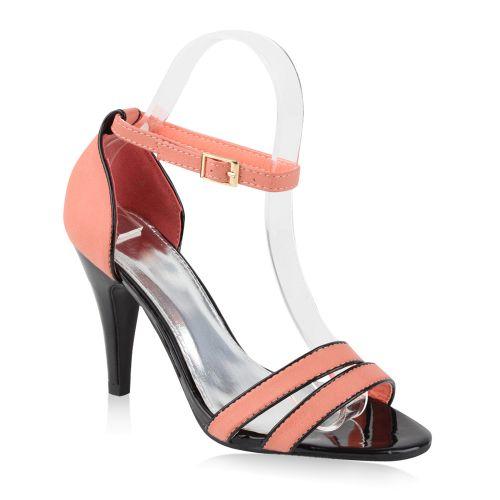 Damen Sandaletten High Heels - Coral