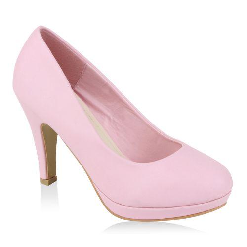 Damen Pumps High Heels - Rosa - Sigillo