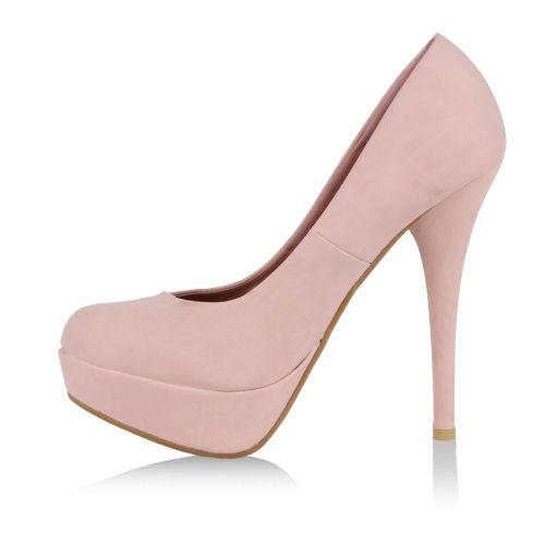 Damen Pumps High Heels - Rosa - Conlie