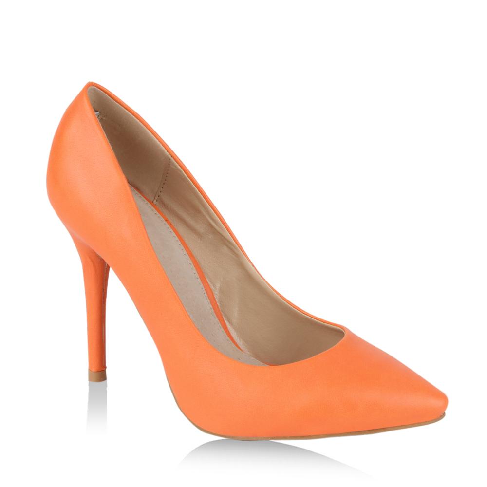 Damen Spitze Pumps - Orange