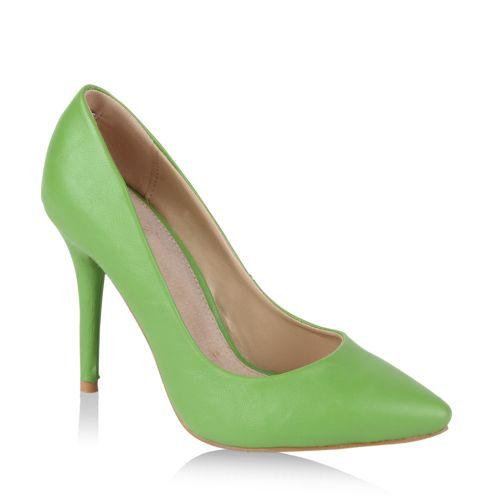 Damen Spitze Pumps - Hellgrün
