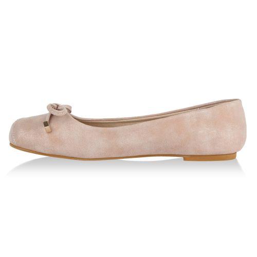 Damen Ballerinas - Rosa - Nostang