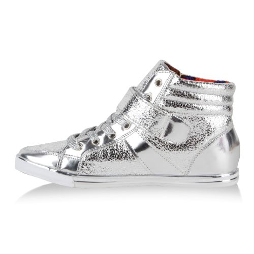 Damen Sneaker high - Silber