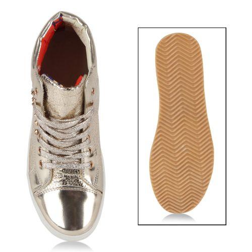 Damen Sneaker high - Gold
