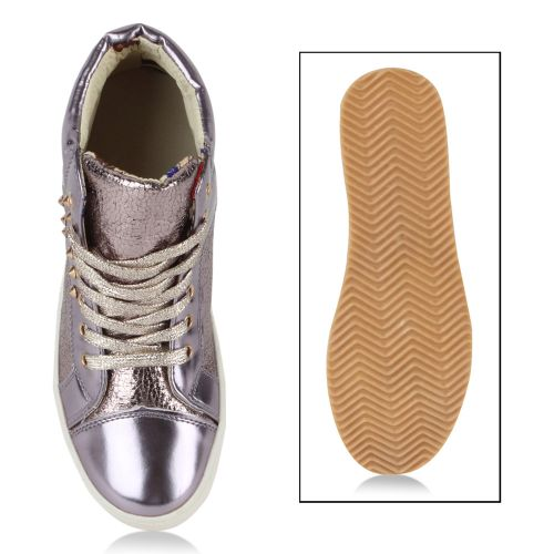 Damen Sneaker high - Helllila