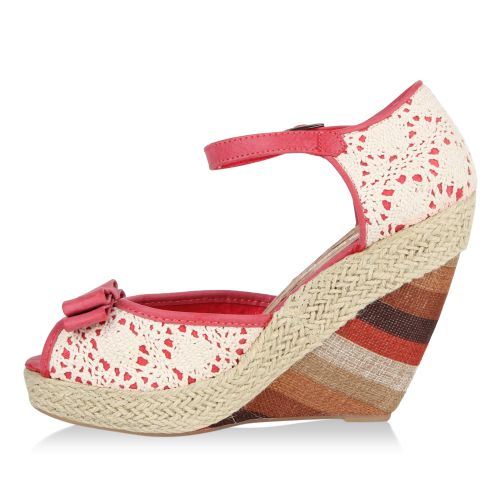 Damen Sandaletten Keilsandaletten - Pink