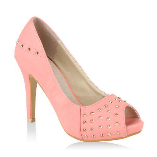 Damen Pumps High Heels - Rosa - Cortez