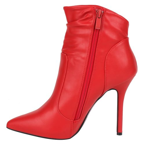 Damen Stiefeletten High Heels - Rot