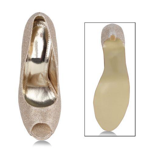 Damen Pumps High Heels - Bronze