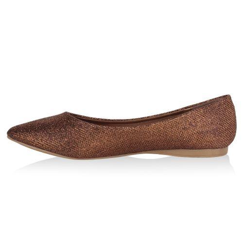 Damen Klassische Ballerinas - Bronze