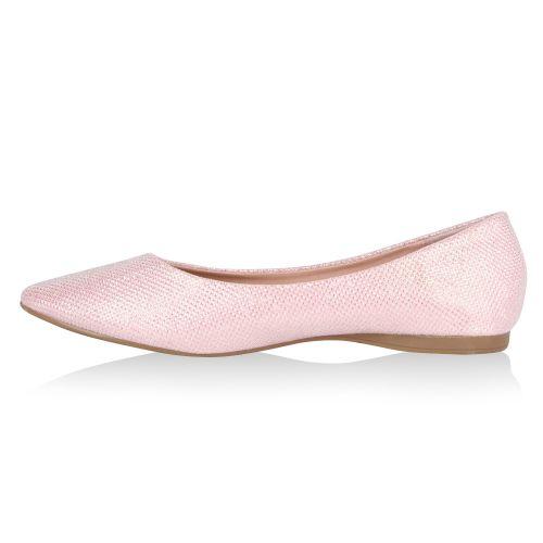 Damen Ballerinas Klassische Ballerinas - Rosa - Reedley