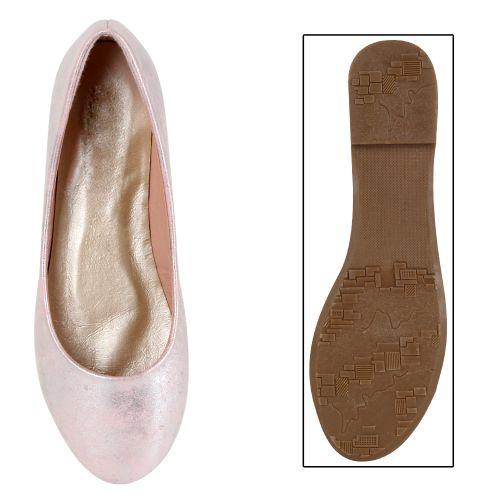 Damen Ballerinas Klassische Ballerinas - Rosa - Bilbao