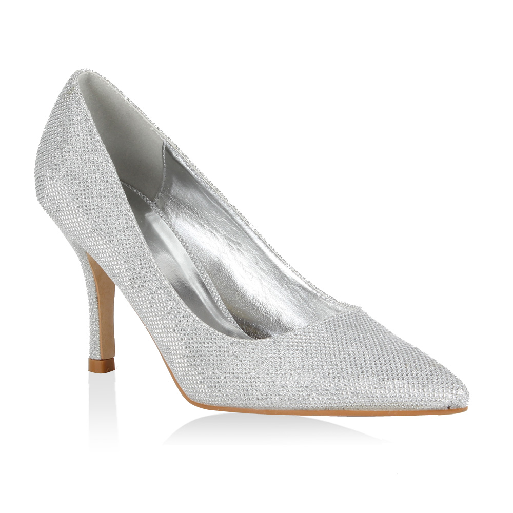 97d9b031592943 Damen Pumps in Silber (98003-526) - stiefelparadies.de