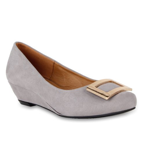 Damen Pumps Klassische Pumps - Hellgrau