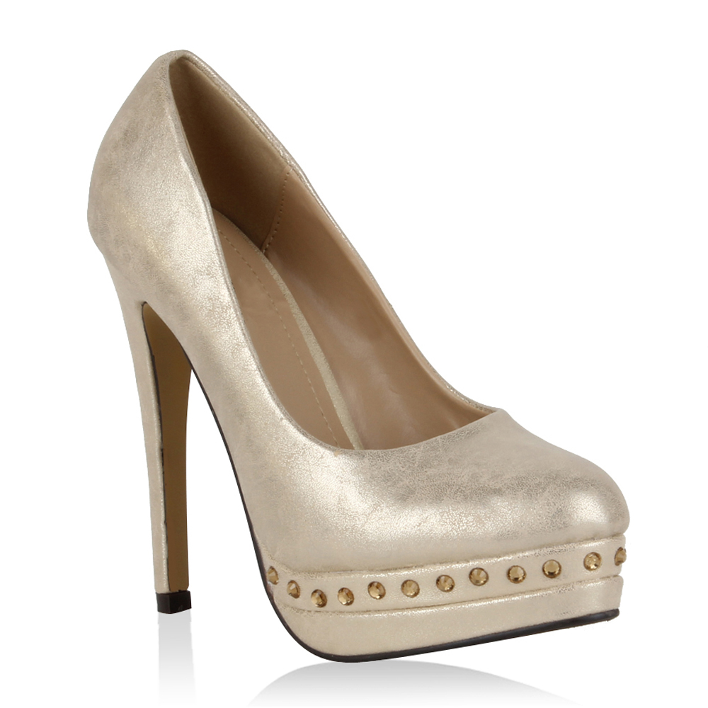 Damen Klassische Pumps - Gold