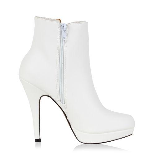 Damen Stiefeletten High Heels - Weiß