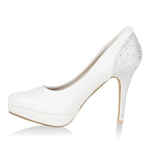 Damen Pumps High Heels - Weiß