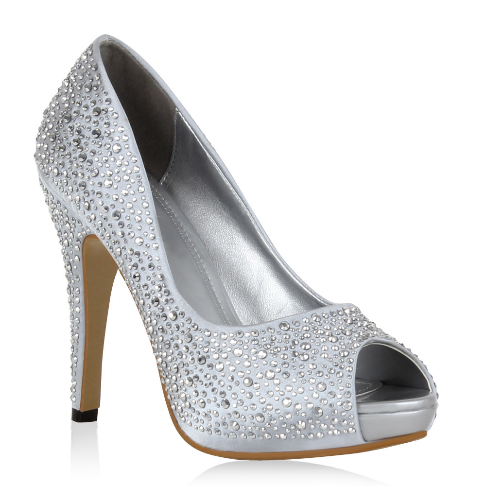 Damen Pumps In Silber 97985 526 Stiefelparadies De