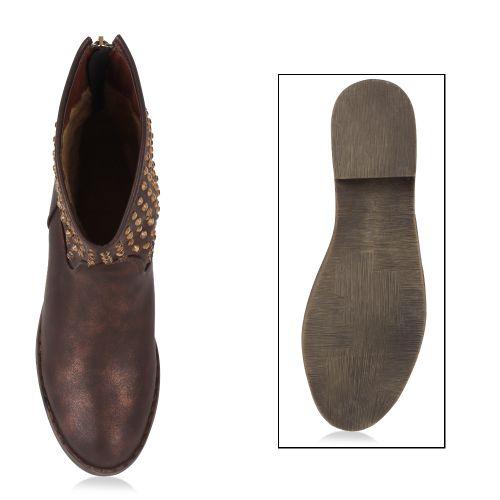 Damen Stiefeletten Klassische Stiefeletten - Bronze