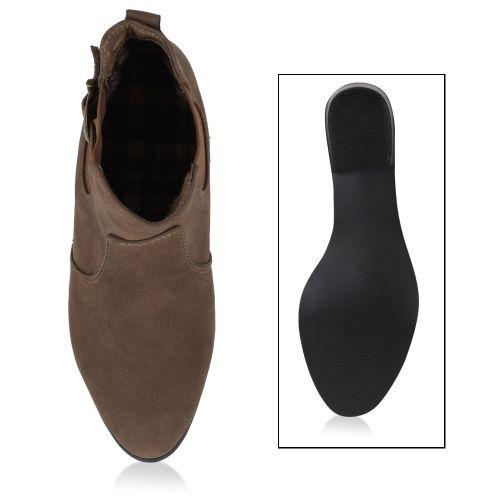 Damen Klassische Stiefeletten - Khaki