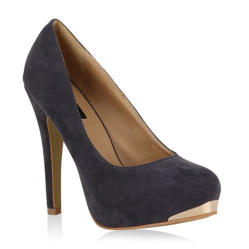 Damen Pumps High Heels - Dunkelgrau