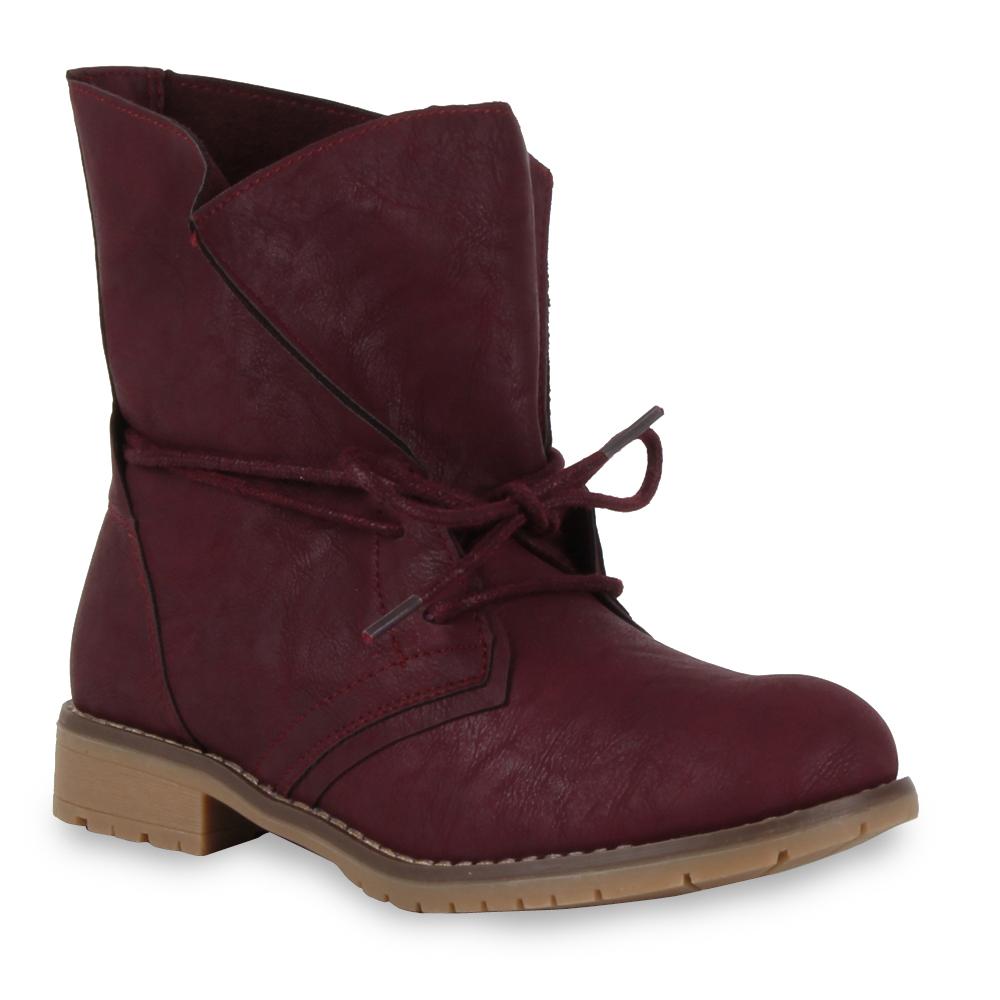 Damen Stiefeletten Worker Boots - Fuchsia