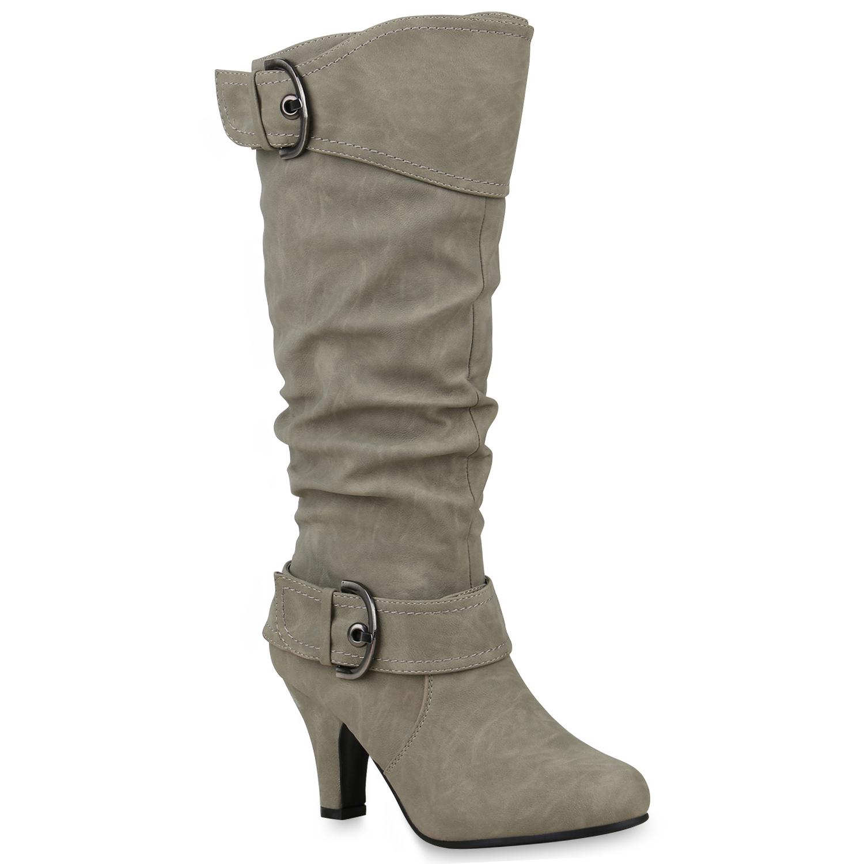 Damen Klassische Stiefel - Hellgrau