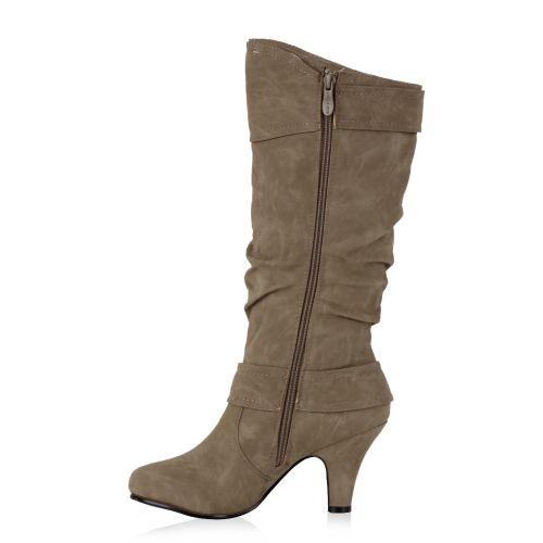 Damen Klassische Stiefel - Taupe