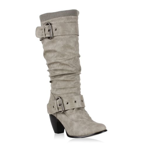 Damen Klassische Stiefel - Stone